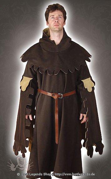 Braune mittelalter kleidung mit zackensaum mittelalter shop herren - Festliche kleidung herren ...