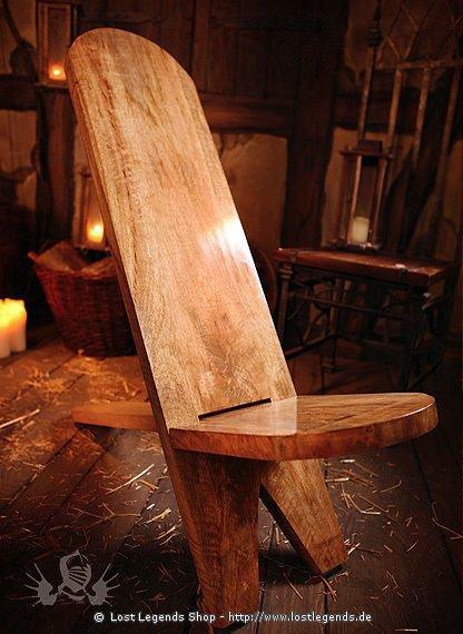 mittelalterlicher steckstuhl trapperstuhl hartholz. Black Bedroom Furniture Sets. Home Design Ideas