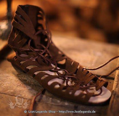 rmische sandalen wildleder mit gummisohle mittelalter. Black Bedroom Furniture Sets. Home Design Ideas