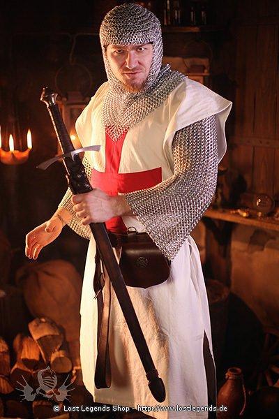 Tempelritter Kleidung Wappenrock weiß