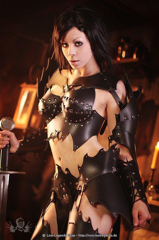 Witch Elf Armor Larp Lederrstung Schwarz Mittelalter
