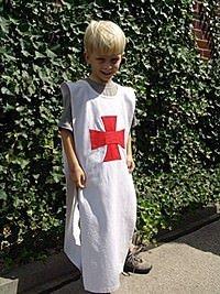 Einfacher Tempelritter Waffenrock für Kinder