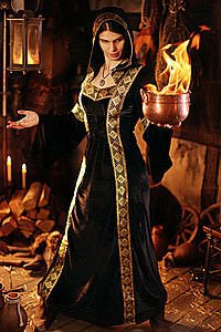 Fantasy Samt-Kleid Witch of Fire