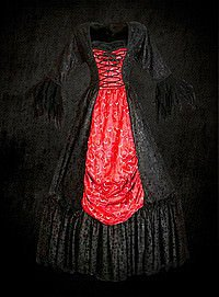 Gothic Kleid Brokat
