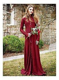 Leichtes Mittelalter-Kleid in rot