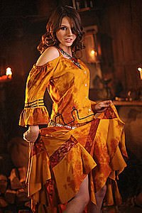 Mittelalter Dirnen-Kleid Michelle