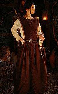 Mittelalter Höllenfenster-Kleid