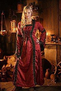 Mittelalter Kleid Galdriana, Brokat