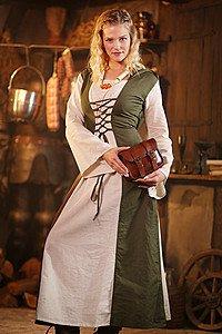 Mittelalter-Kleid mit Schnürung