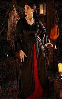 Mittelalter Samt-Kleid Katharina