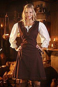 Mittelalter Überkleid ärmellos mit Stickerei