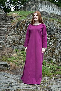 Mittelalter Unterkleid Freya, violett