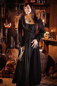Mittelalterkleid mit Schnürung