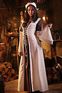 Mittelalterkleid mit Kapuze
