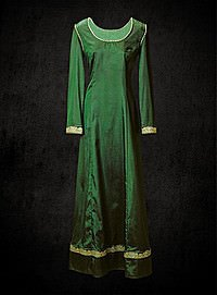 Mittelalterkleid 13. Jhdt, smaragdgrün