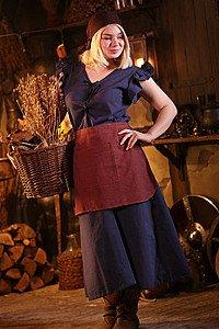 Mittelalterliches Frauengewand Agga, blau