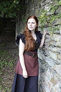 Mittelalterliches Frauengewand Agga, schwarz