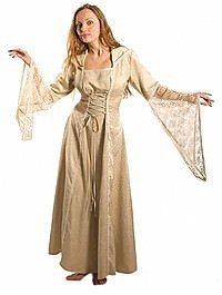 Mittelalterliches Kleid Brokat, XXL