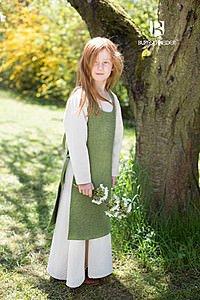 Mittelalterliches Überkleid für Kinder, grün