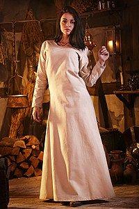 Mittelalterliches Unterkleid Freya, natur