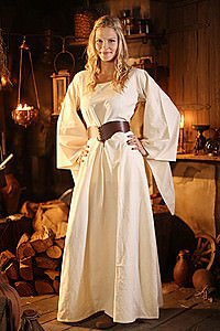 Mittelalter Unterkleid mit Trompetenärmel