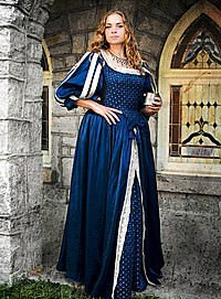 Renaissance-Gewand blau