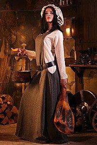 Medieval Surcoat Albrun grey