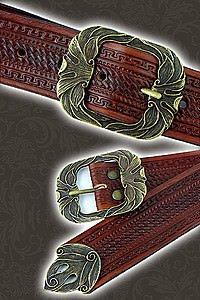 Verzierter Ledergürtel Fancy