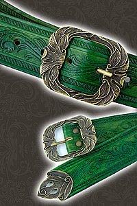 Verzierter Ledergürtel Ornament