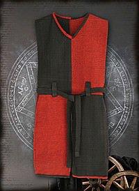 Wappenrock rot-schwarz Baumwolle