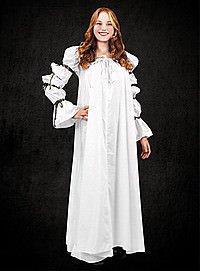 Weißes Unterkleid mit schnürbaren Ärmeln