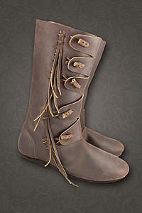 Mittelalter Schuhe, Bundschuhe, Stulpenstiefel