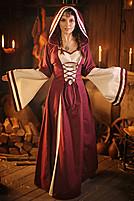Mittelalter-Kleid mit Trompetenärmel